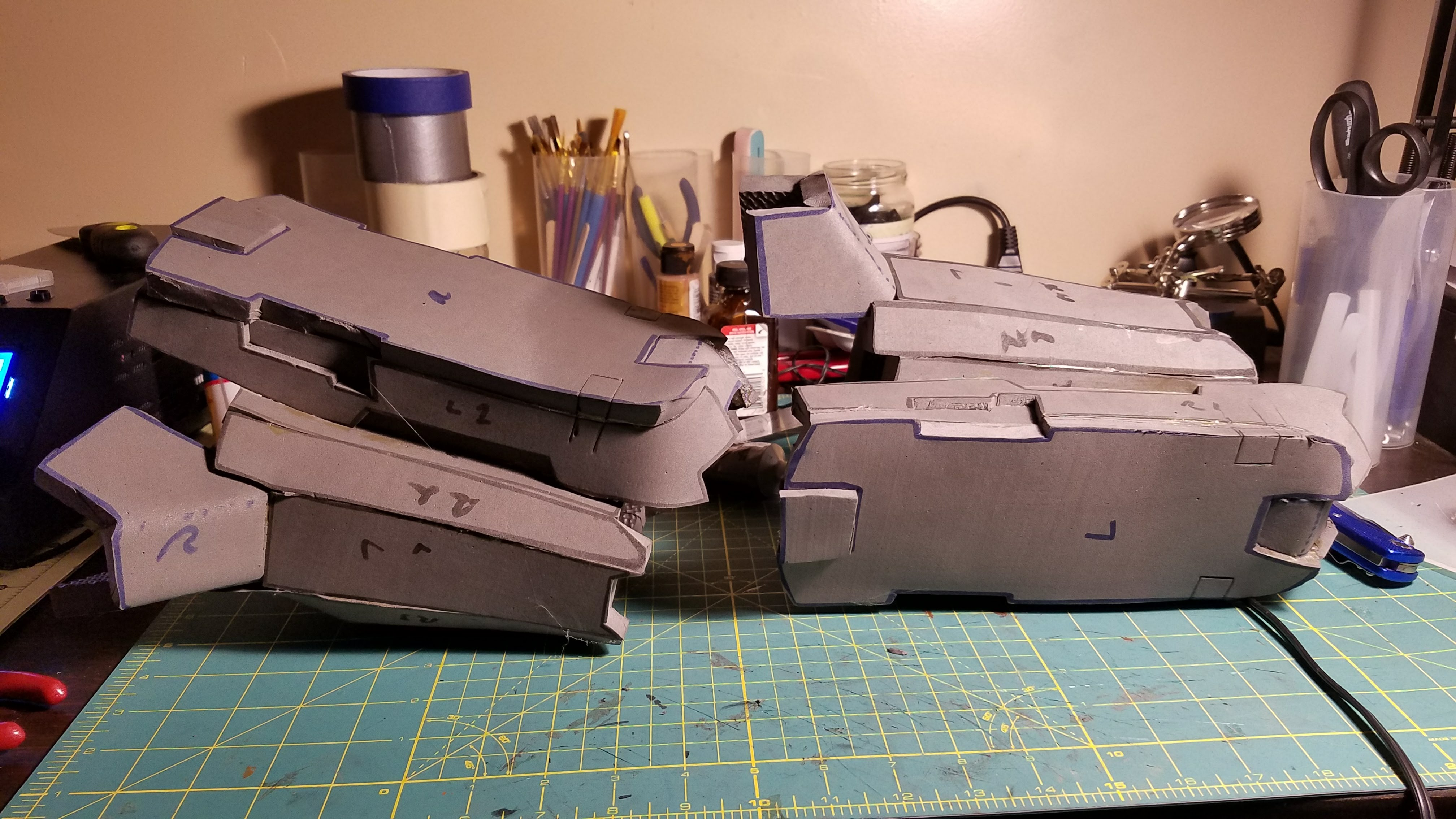 Working on my first Halo build Anubis Armour | Halo Costume and Prop