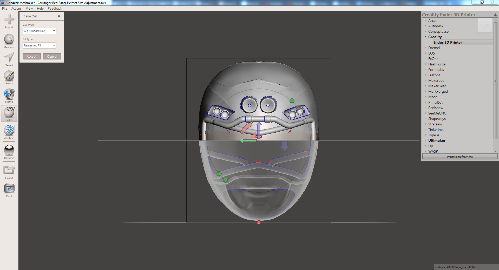 2019-01-18 09_18_27-Autodesk Meshmixer - Carranger Red Racer Helmet Size Adjustment.mix.png