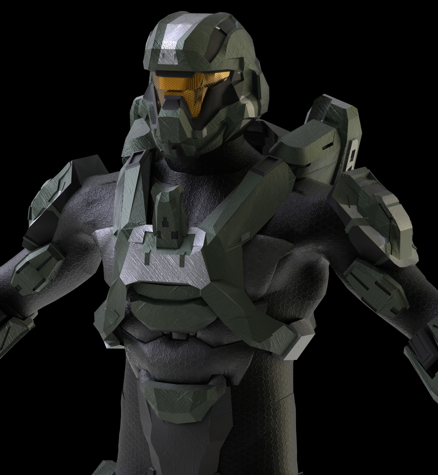 Halo 4 Recruit Armor Pepakura - 0425