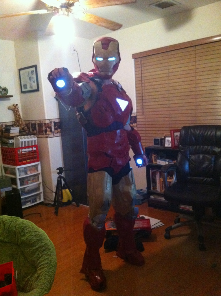 how to make an iron man costume from foam