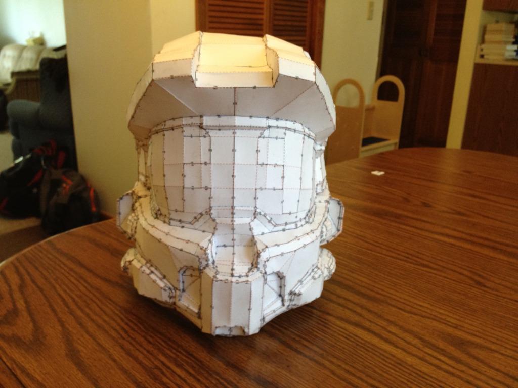 Halo 4 Master Chief First Pepakura Build | Halo Costume ...