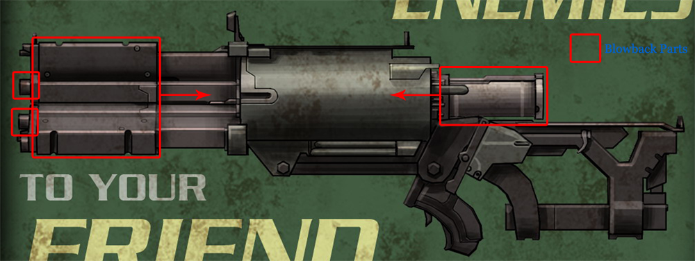 Dead space 2 sws motorized pulse rifle blueprint project hydra blowbacksyscopiag malvernweather Choice Image
