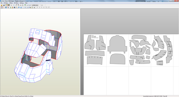 Halo 4 Master Chief foam build *unfinished* (with templates