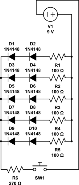 Wiring LEDs in parallel with 5-pin LED on/off switch | Halo ... on capacitors in parallel, power supplies in parallel, switches in parallel, 9v battery in parallel, chargers in parallel, 12 volt battery in parallel, resistors in parallel,