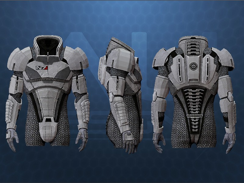 Hugh 39 s mass effect ii n7 armor halo costume and prop for Mass effect 3 n7 armor template