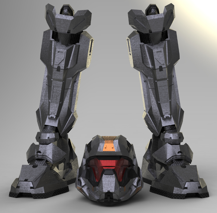 Halo 4 Recruit armor (3D Model build) | Halo Costume and