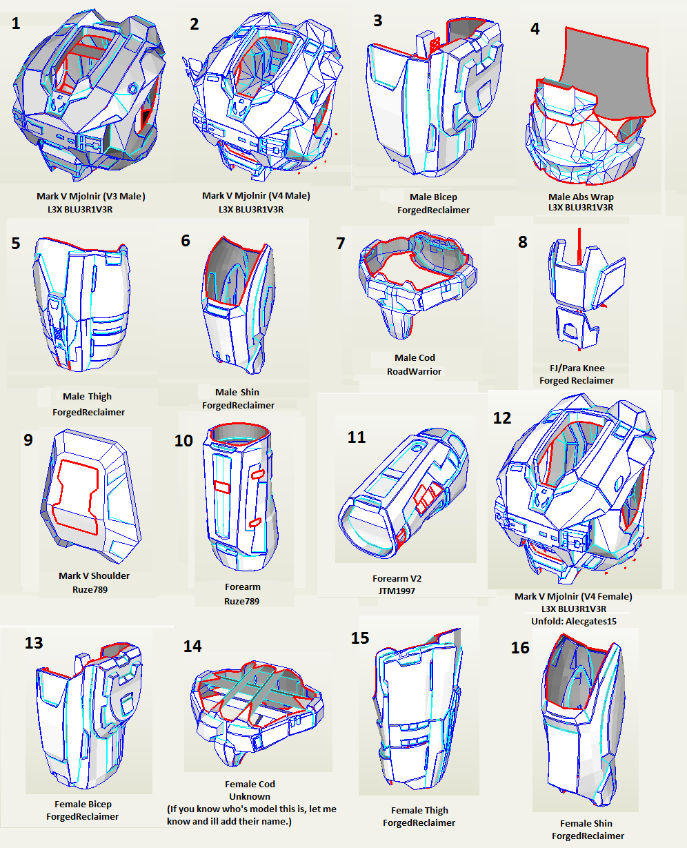 Halo Foam Armor Templates