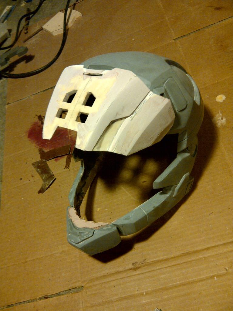 My Haunted Helmet     Scary   OOOOOO   Halo Costume and Prop