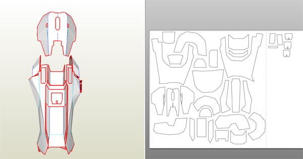 halo 4 master chief foam build wip with templates halo costume