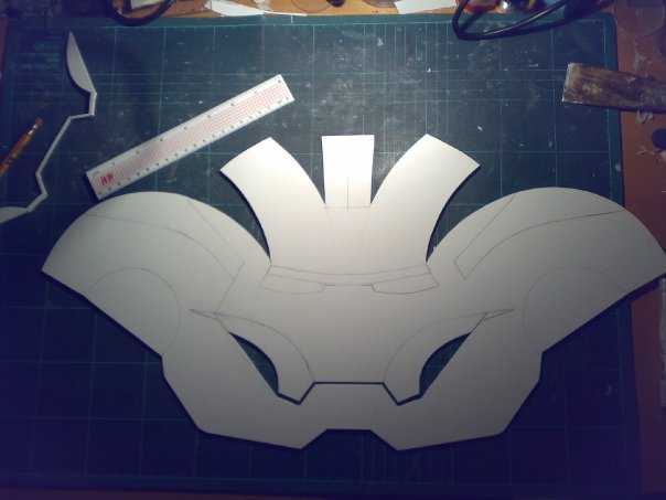 Gemini khan iron man helmet build halo costume and for Iron man suit template