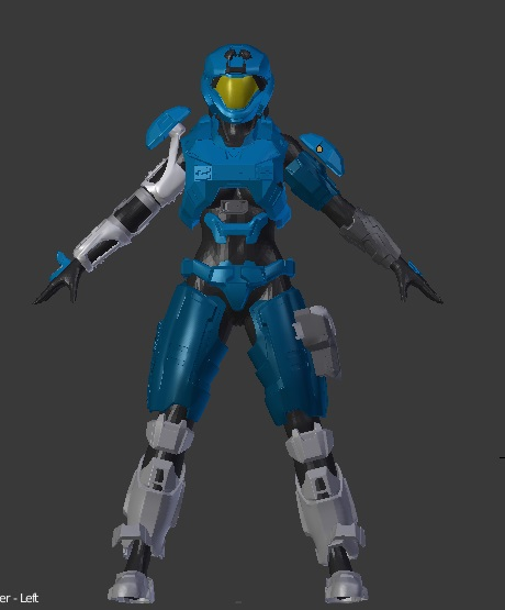 Halo Reach - Noble 2 Printable Armor - Kat - Catherine-B320 | Halo