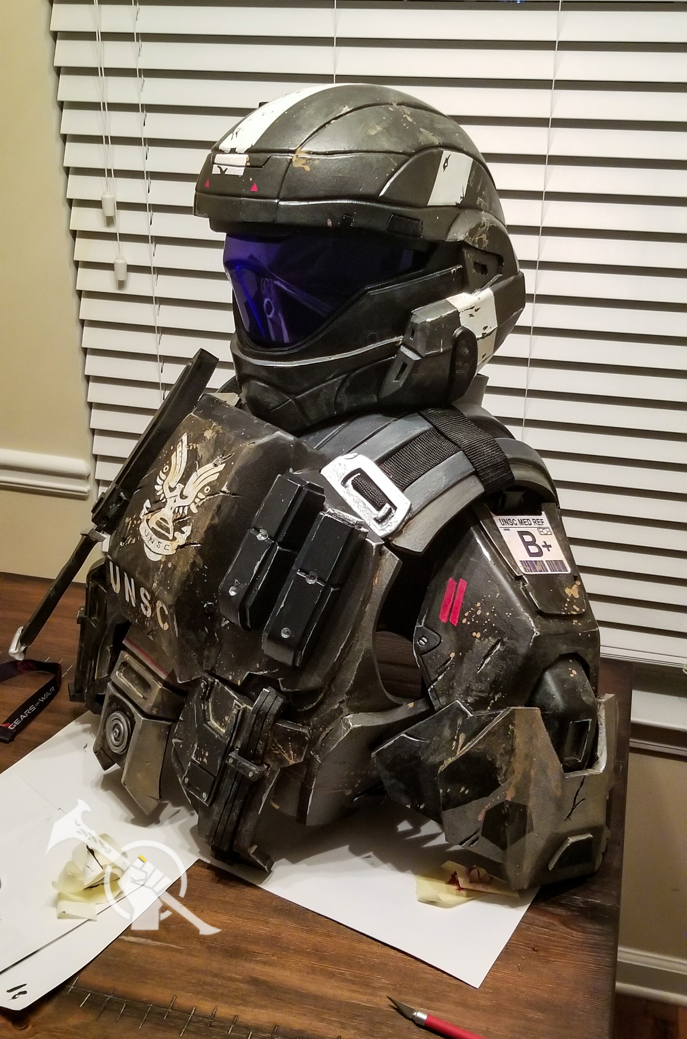 Props Ebony Warrior S Reach Landfall Inspired Odst Halo